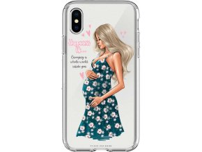 Pruzny kryt na iphone xs maminka happiness blond