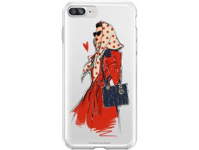 Pruzny kryt na iphone 8 plus fashion girl