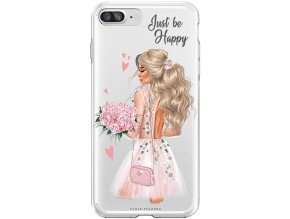 Obal na iPhone 8 Plus happy girl blond