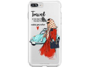 Pruzny kryt na iphone 8 plus travel girl