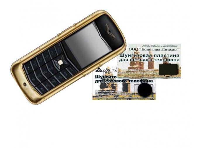 Destička šungitová - odrušovač na telefon, kulatá bez kartičky
