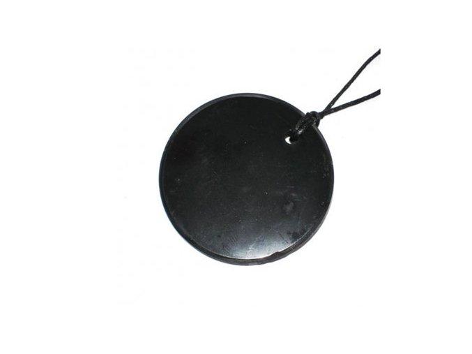 Přívěšek kroužek ze šungitu malý
