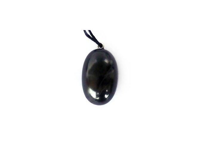 Přívěšek kamínek ze šungitu kulatý