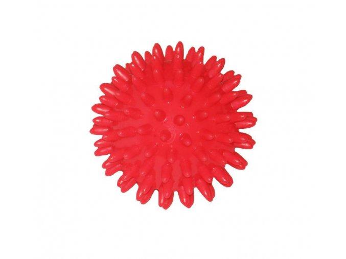 Míček masážní ježek, 70 mm, červený