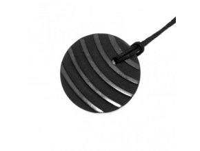 Přívěšek pruhovaný kroužek ze šungitu