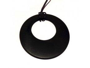 Přívěšek donut ze šungitu