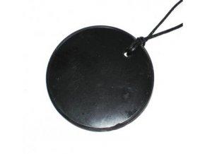 Přívěšek kroužek ze šungitu velký