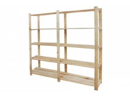 Regál drevený B-02 170x170x28  -borovica