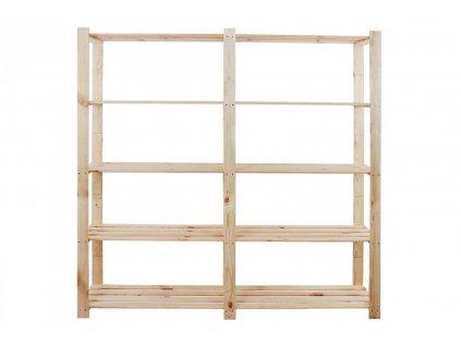Regál drevený B-03 170x170x38 5 políc-borovica