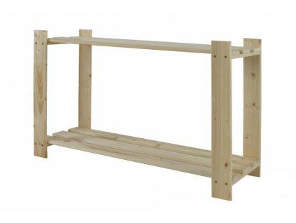 Regál drevený B-06 50x80x30 -borovica