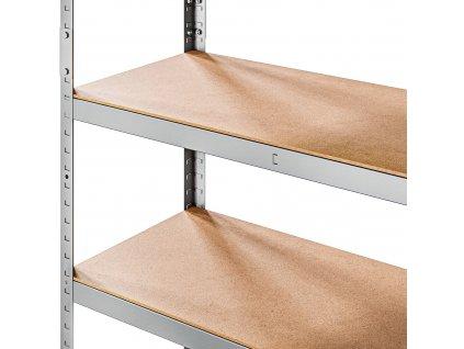 Kovový Regál Série Strong 180x100x50 5 políc Nosnosť 1500 Kg- Pozinkovaný