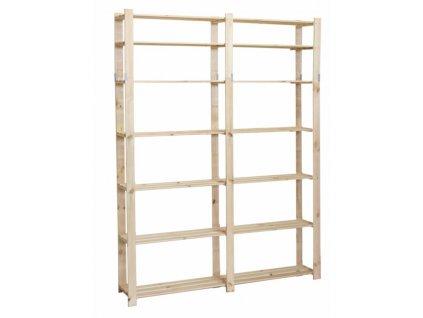 Regál drevený B-31 220x170x28-borovica
