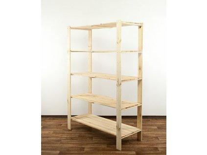 Regál drevený Maxi 4N+ 174x120x50  -borovica