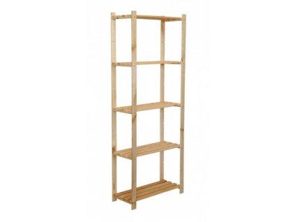 Regál drevený RA-5-65 170x65x28 5 políc-borovica