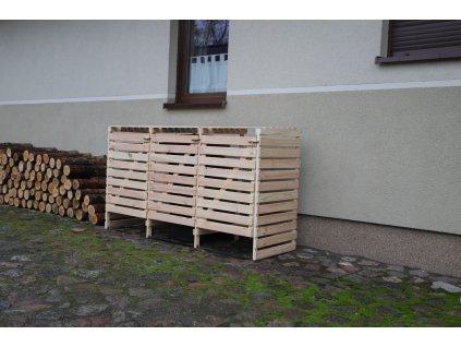 Drevený box na odpadové nádoby OBK-240L-3-FAREBNÉ VARIANTY
