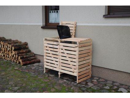 Drevený box na odpadové nádoby OBK-120L-2-FAREBNÉ VARIANTY