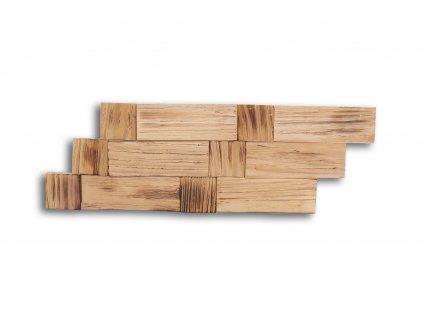 Drevený obklad na stenu- Opálená 4 ks v balení PSDB_595X195X13_FSK4