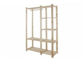 Regál drevený RG-5 170x110x38 5 políc-borovica