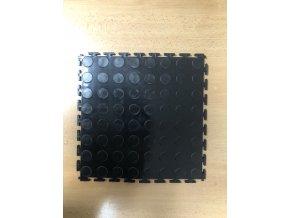 Plastová protišmyková podlahová krytina ohybná čierna