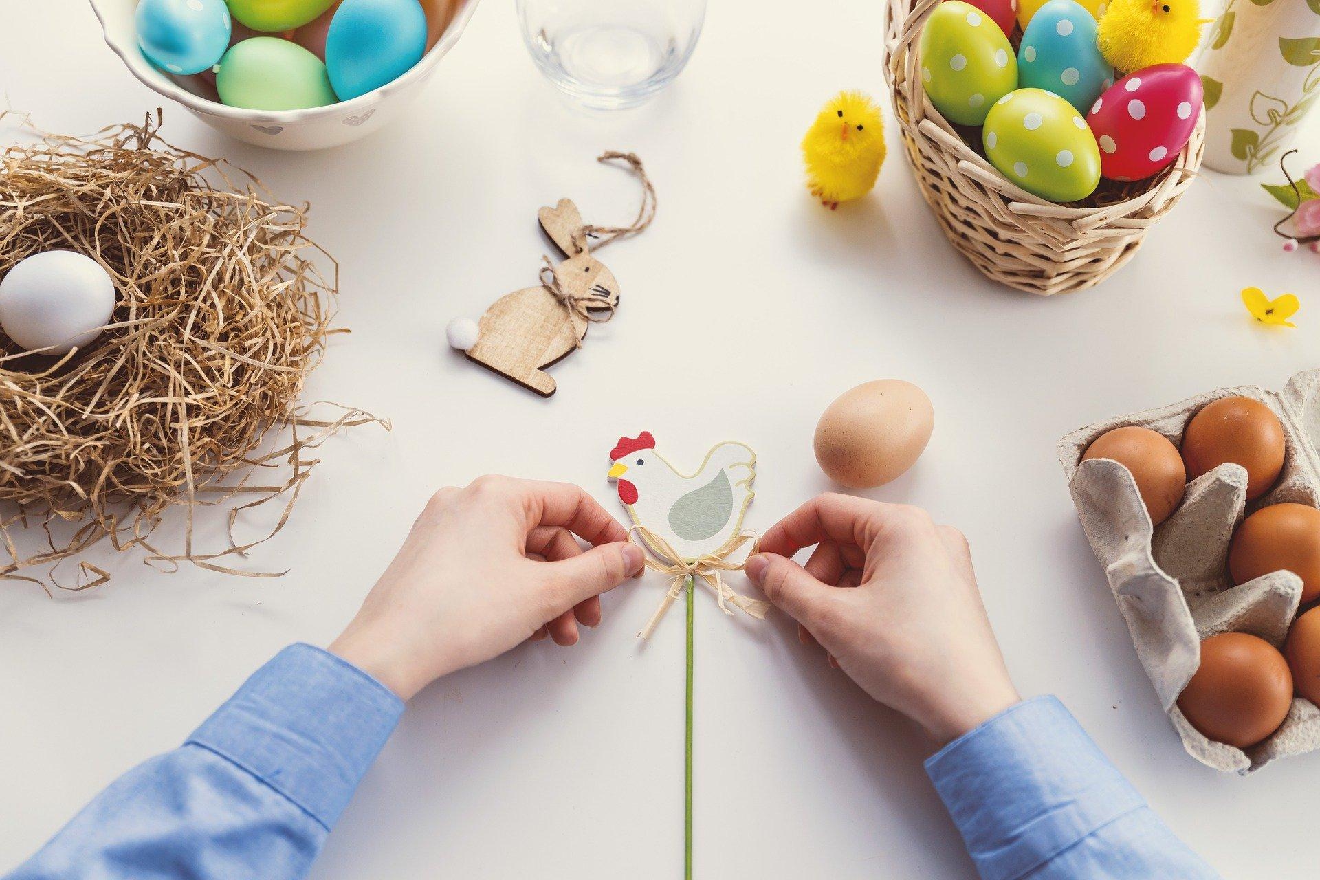 Velikonoční výzdoba a zdobení kraslic