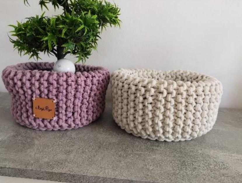 Návod na pleteno-háčkovaný košík