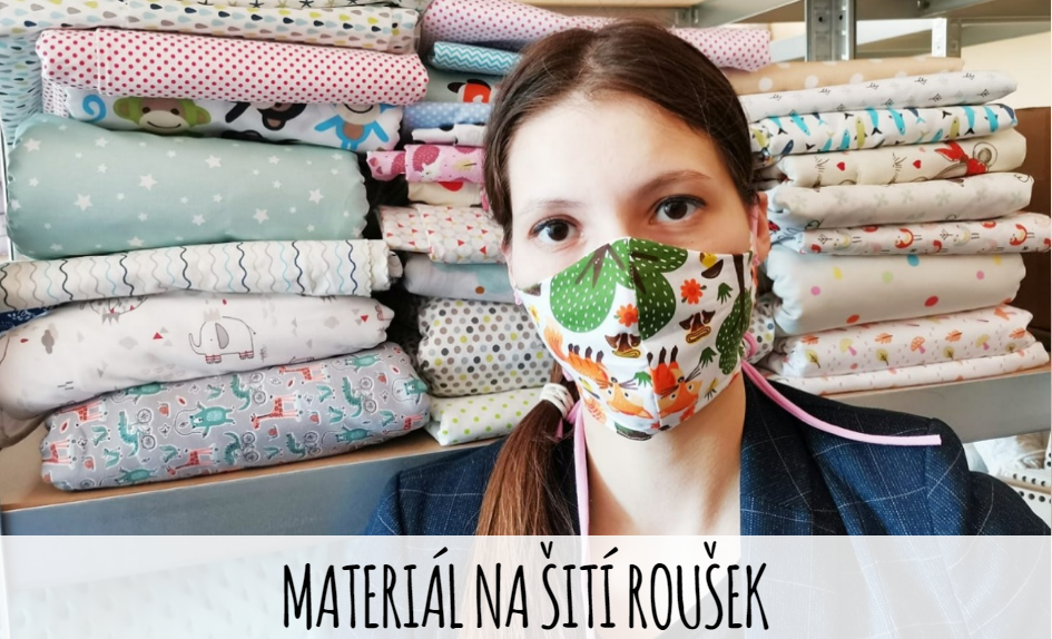Materiál na šití bavlněných roušek