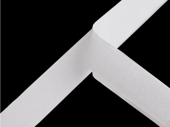 Suchý zip háček + plyš samolepicí šíře 20 mm bílý