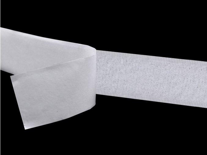 Suchý zip plyš samolepicí šíře 20 mm bílý