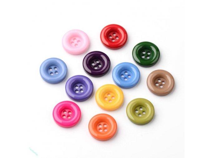 Akrylové knoflíky mix barev 15mm