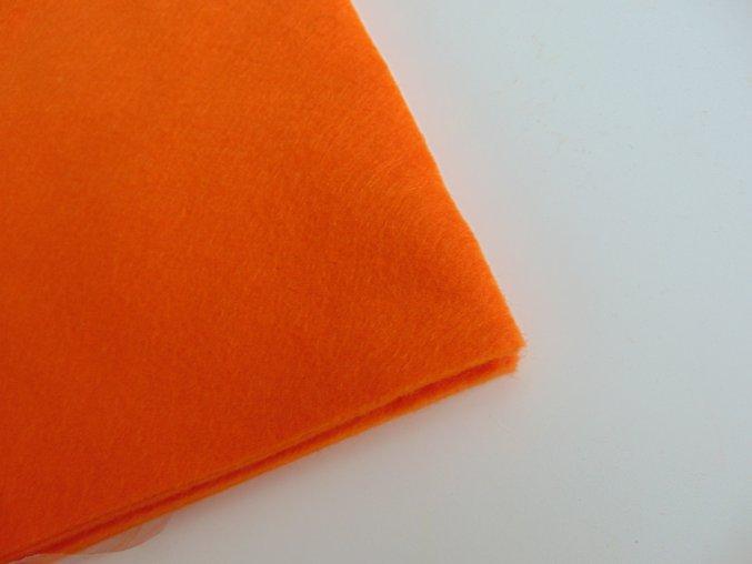 Filc 1mm 20x30cm oranžový