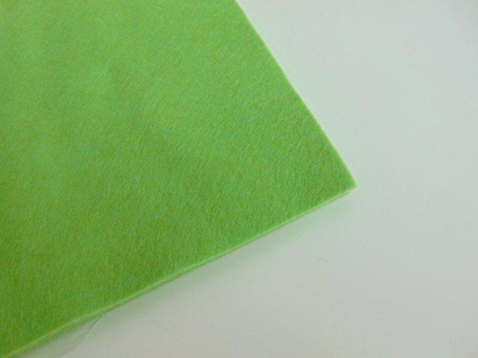 Filc 1mm 20x30cm světle zelený