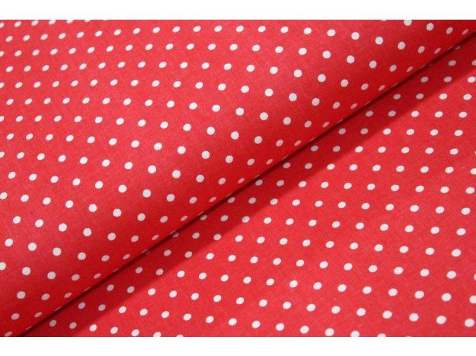 bílý puntík na červené