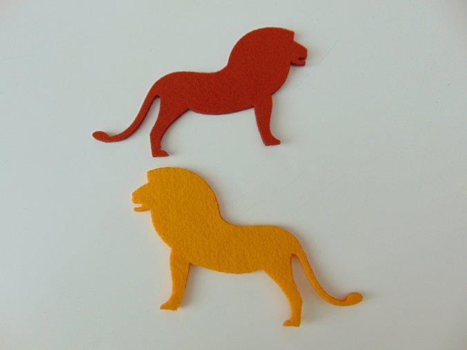 Výsek z filcu lev rezavý