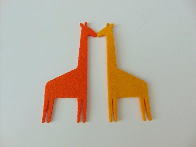 Výsek z filcu žirafa žlutá