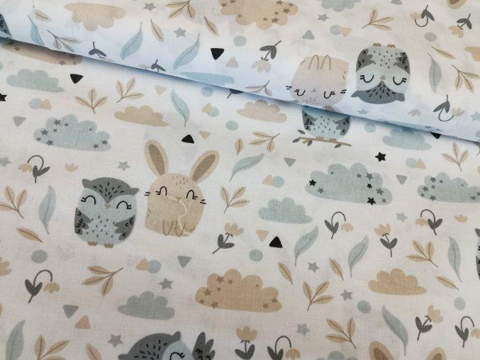 Plátno Lesní zvířátka na bílé 1