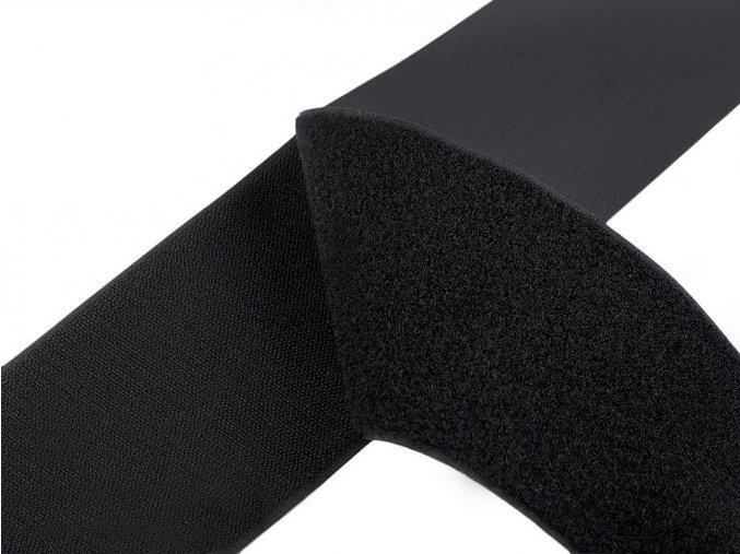 Suchý zip háček + plyš šíře 10 cm černý