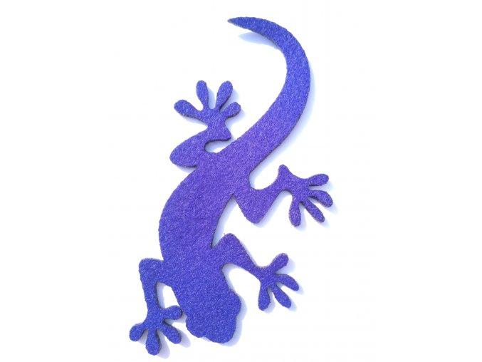 Výsek z filcu ještěrka stř.modrá