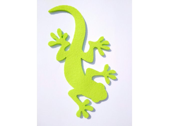 Výsek z filcu ještěrka sv.zelená
