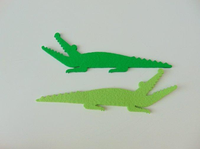 Výsek z filcu krokodýl sv. zelený