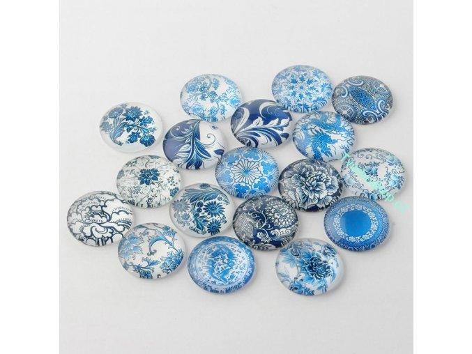 Mix kabošonů modré 25 mm