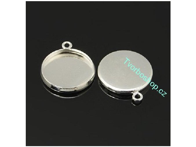 Lůžko 12 mm stříbrné