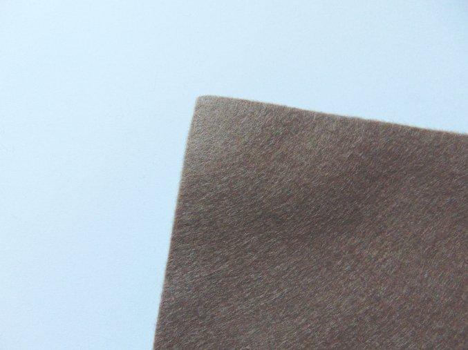 Filc 1mm 20x30cm středně hnědý