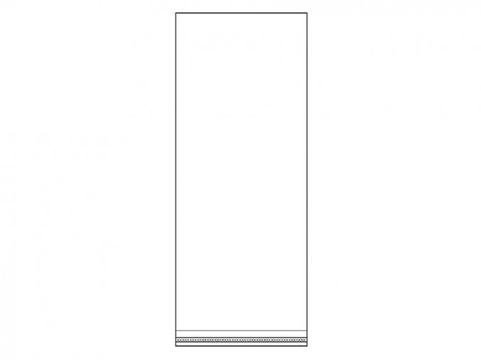 Celofánové sáčky s lepicí lištou 13x33 cm