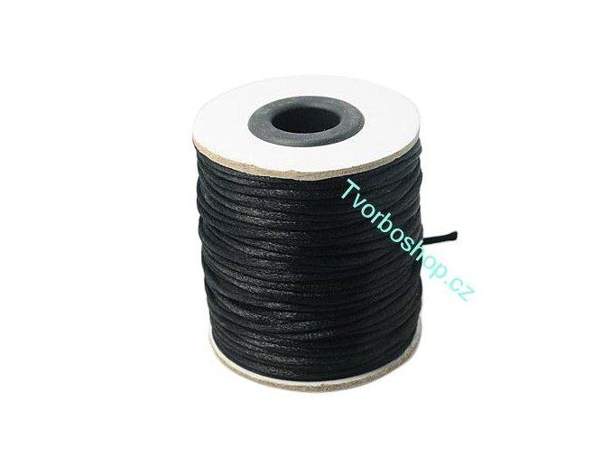 Polyesterová šňůra 2 mm černá