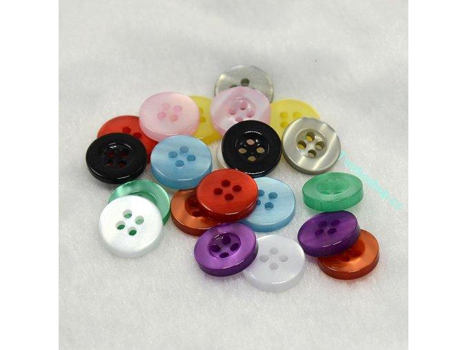 Barevné perleťové knoflíky