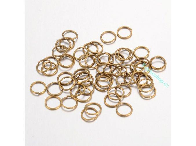 Spojovací kroužky starobronz 5 mm