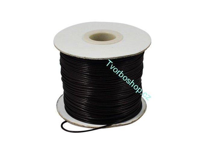 Vosková šňůra černá 1,5mm
