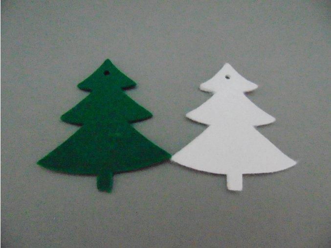 Výsek z filcu stromek zelený