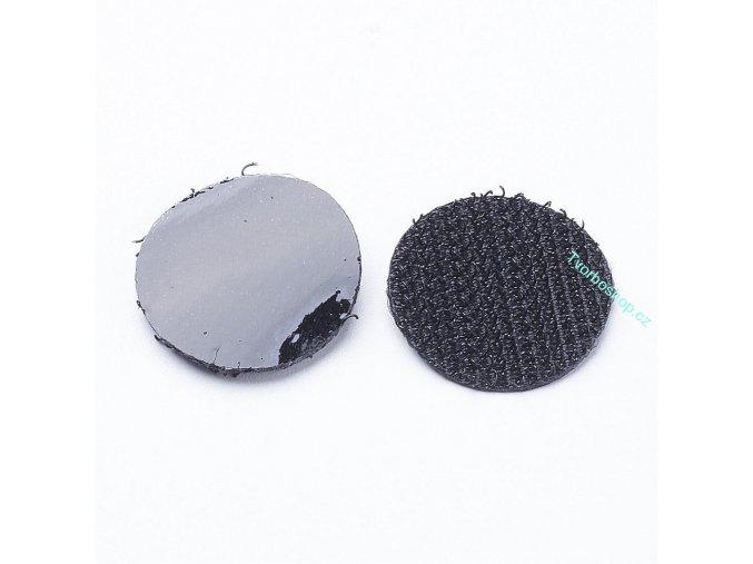 Kolečka suchého zipu černá 2cm