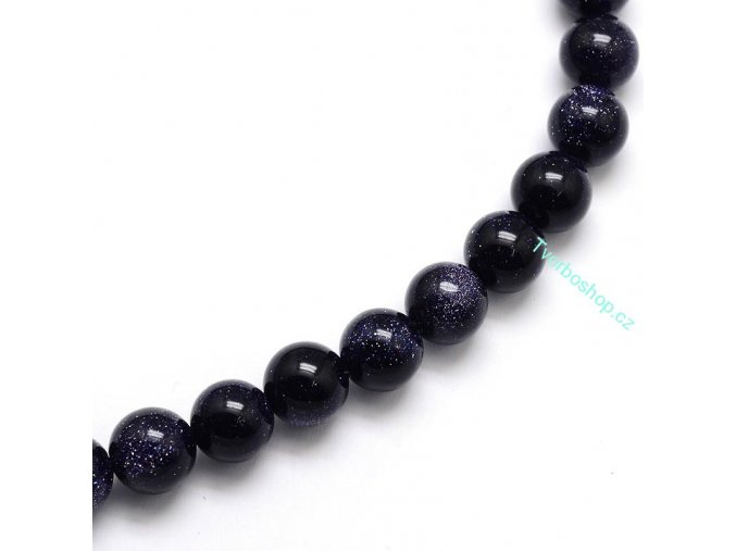 Goldstone modrý 6 mm